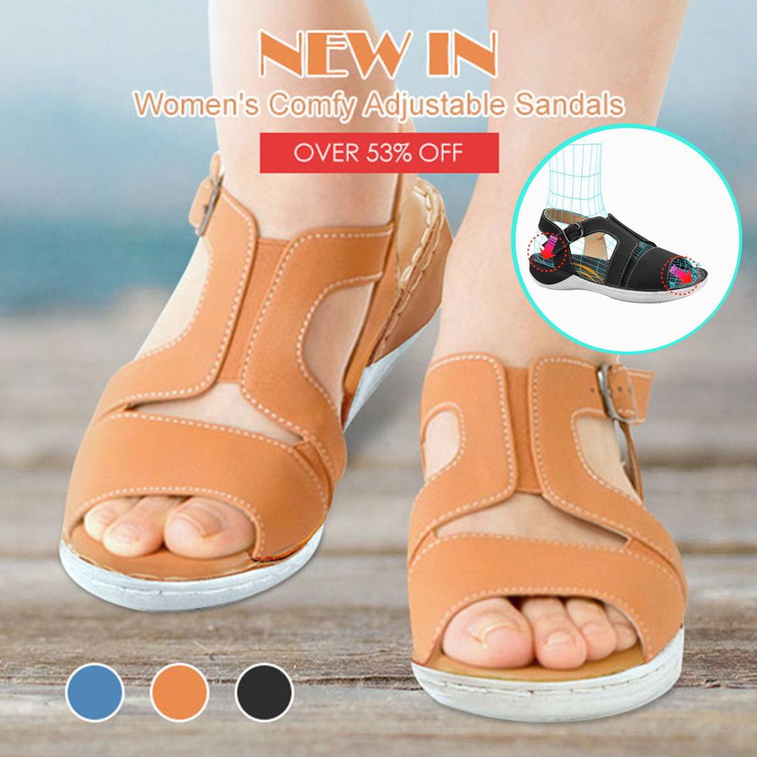 Women's Elastic Band Comfortable Adjustable Sandals