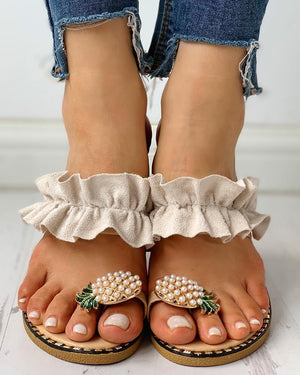 *2019 New Arrival* Cute Pineapple Flat Summer Sandals