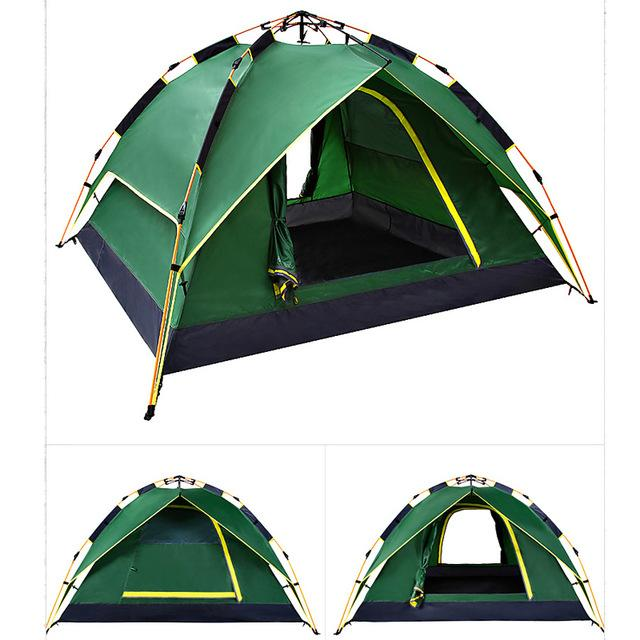 50% Off Today | 3 Seconds - Fastest Automatic Hydraulic Double Layer Tent - Army Green / United States - Tent