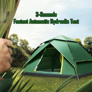 50% Off Today | 3 Seconds - Fastest Automatic Hydraulic Double Layer Tent - Tent