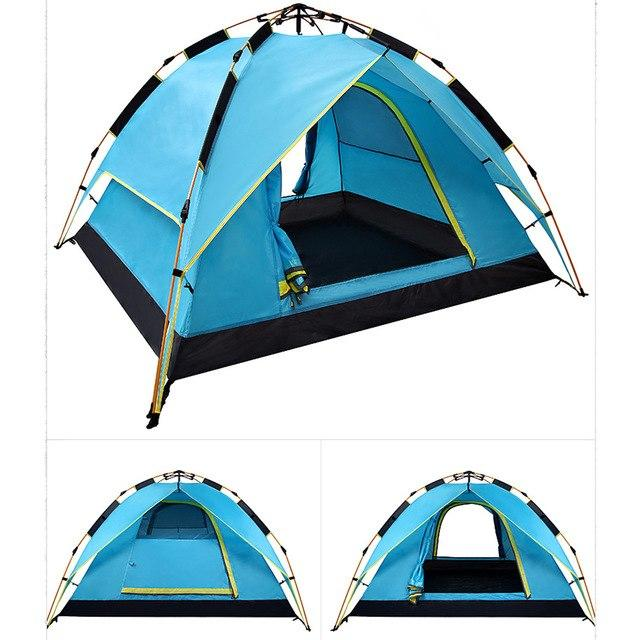 50% Off Today | 3 Seconds - Fastest Automatic Hydraulic Double Layer Tent - Blue / United States - Tent