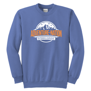 Adventure-Nation Crewneck Sweatshirt - Youth Crewneck Sweatshirt / Sport Grey / Xs - T-Shirt