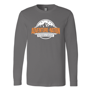 Adventure-Nation Longsleeve - Canvas Long Sleeve Shirt / Asphalt / S - T-Shirt