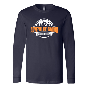Adventure-Nation Longsleeve - Canvas Long Sleeve Shirt / Navy / S - T-Shirt