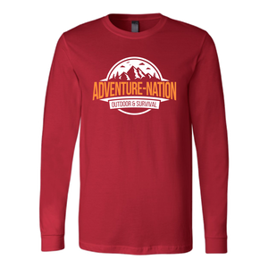 Adventure-Nation Longsleeve - Canvas Long Sleeve Shirt / Red / S - T-Shirt