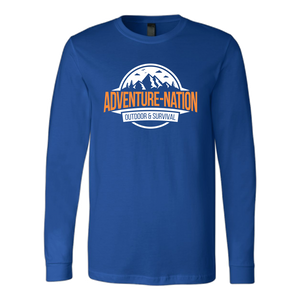 Adventure-Nation Longsleeve - Canvas Long Sleeve Shirt / Royal / S - T-Shirt