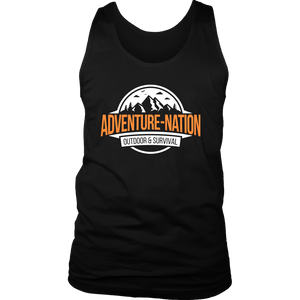 Adventure-Nation Mens Tank - District Mens Tank / Black / S - T-Shirt