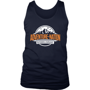 Adventure-Nation Mens Tank - District Mens Tank / Navy / S - T-Shirt