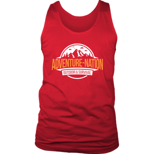 Adventure-Nation Mens Tank - District Mens Tank / Red / S - T-Shirt
