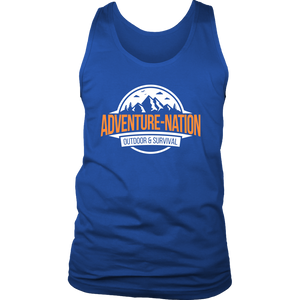 Adventure-Nation Mens Tank - District Mens Tank / Royal Blue / S - T-Shirt
