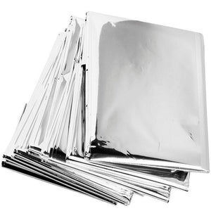 Aluminum Emergency Blanket - 51 2In X 82 7In - Survival