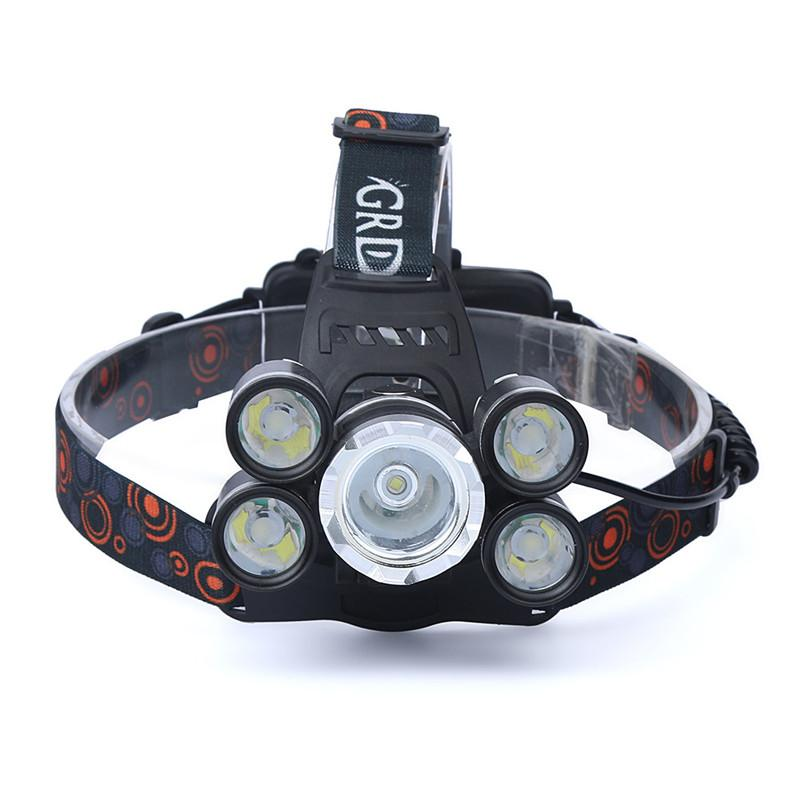 Fl-Xhl 5 | 35.000Lm High Power 4-Mode Led Waterproof Headlamp - Headlamp & Batteries & Charging Cable - Flashlight