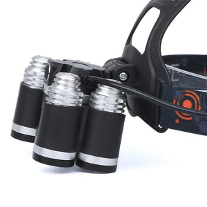Fl-Xhl 5 | 35.000Lm High Power 4-Mode Led Waterproof Headlamp - Flashlight