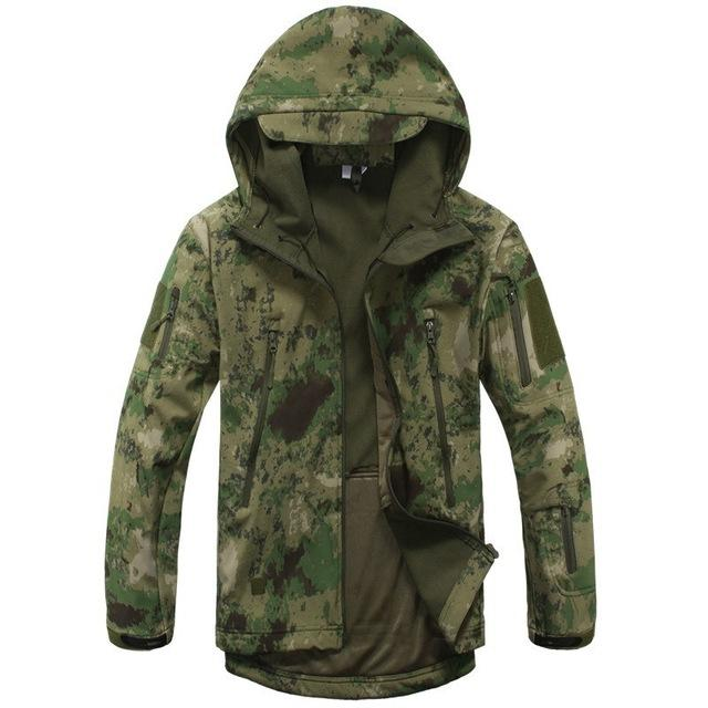 Ga-2 | Waterproof Tactical Softshell Jacket - Green Camo / Xs - Jacket