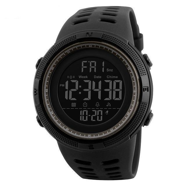 Kt5-Slim | Casual Slim Outdoor Watch - Black Brown - Watch