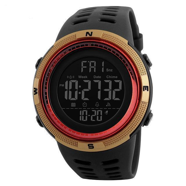 Kt5-Slim | Casual Slim Outdoor Watch - Gold Red - Watch