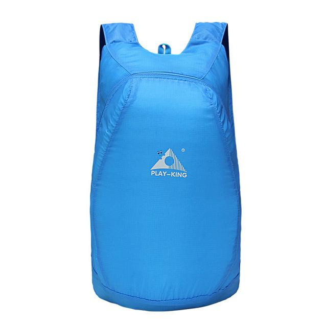 Portable Easy To Store Backpack - Blue - Backpack