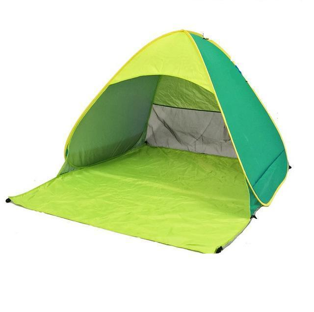Sunport | Portable Pop Up Sunshelter - Green And Yellow - Tent