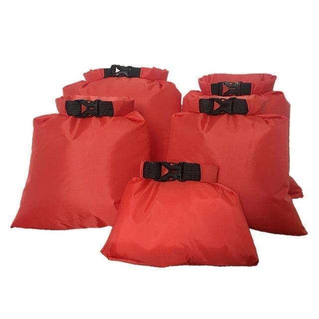Waterproof Storage Bag Set - 5X Red - Bag
