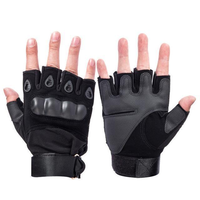 Z-1 | Fingerless Hunting Gloves - Black / M - Gloves