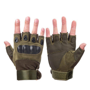 Z-1 | Fingerless Hunting Gloves - Brown / M - Gloves