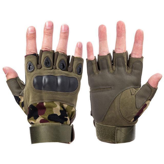 Z-1 | Fingerless Hunting Gloves - Camo / M - Gloves