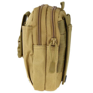 Zk-3 | Military Style Waist/molle/belt Bag - Khaki - Bag