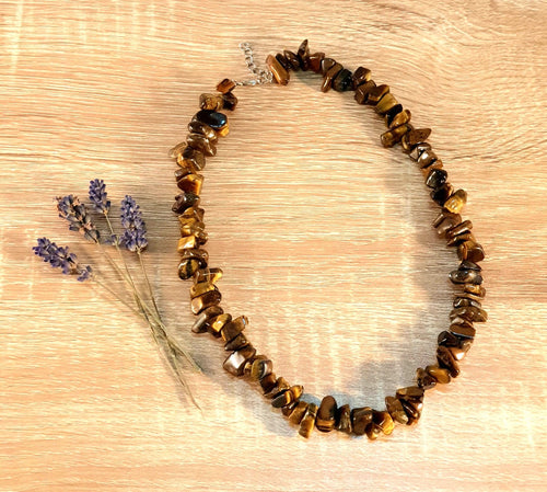 Chip Necklace Chunky - Tiger Eye