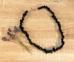 Chip Necklace - Black Obsidian