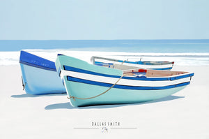 Row Boats On Beach
