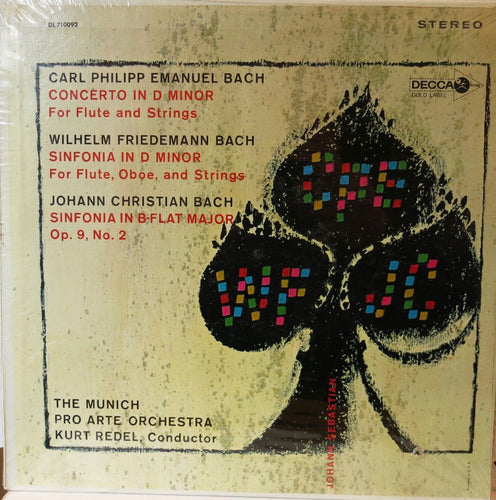 Bach: Sinfonia / W. F. Bach: Sinfonia / C. P. E. Bach: Flute Concerto | Vinyl Record by Decca