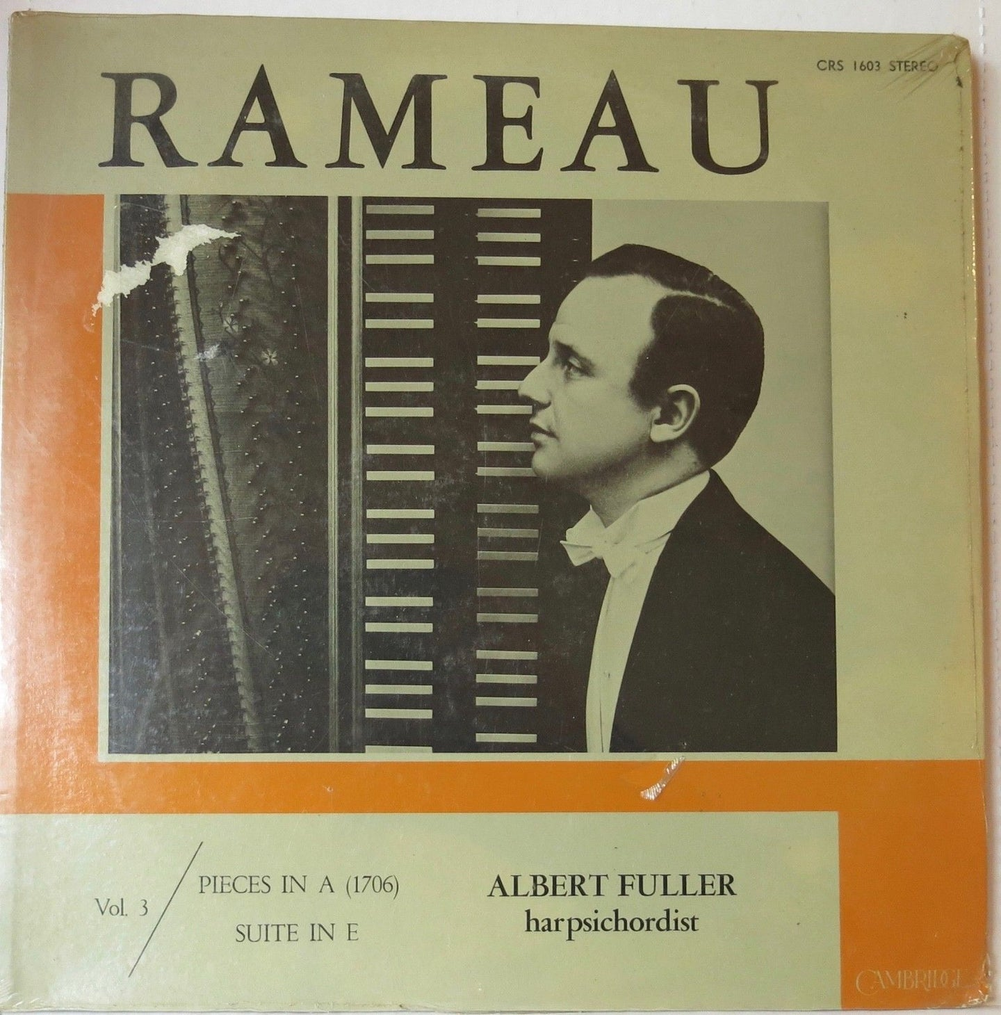 Rameau Vol. 3 Pieces In A, Suite In E - Cambridge Records