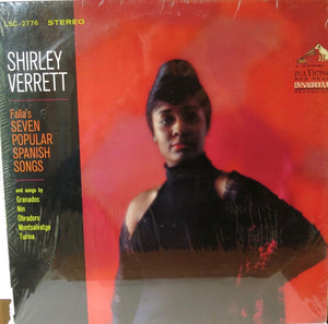 Shirley Verrett ‎– Seven Popular Spanish Songs - RCA Victor
