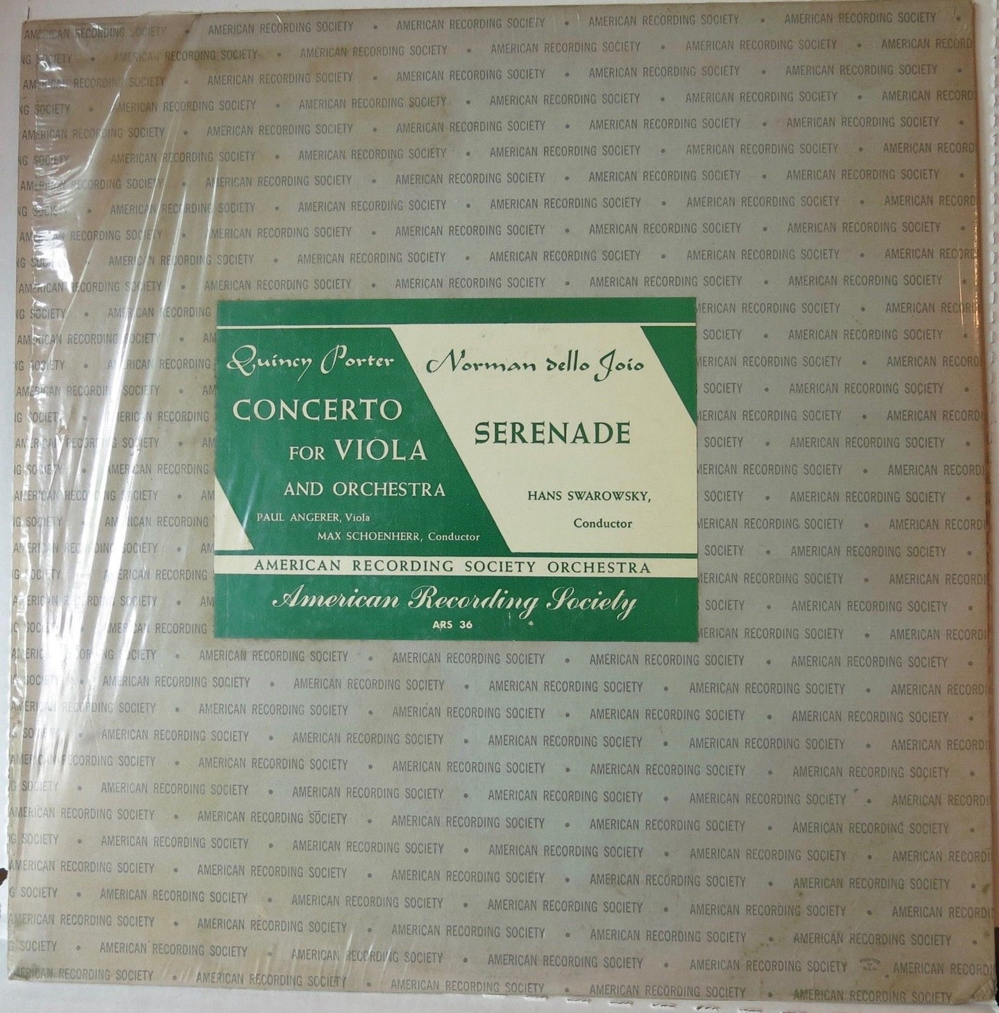 Porter concerto for viola and orchestra - American Recording Society