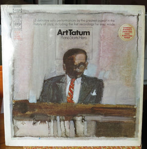 Art Tatum - Piano Starts Here LP - Vintage Jazz Vinyl - Columbia