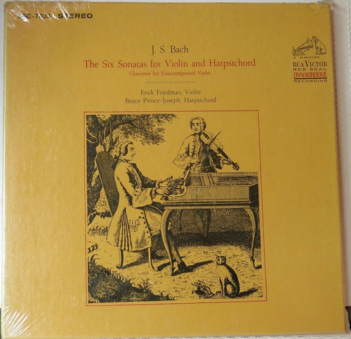 J.S Bach the Six Sonatas for Violin and Harpsichord 2 Record Set - RCA Victor