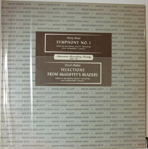 Henry Brant, Burrill Phillips ‎– Symphony No. 1 / Selections From McGuffey's Readers - American Recording Society