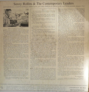 Sonny Rollins & The Contemporary Leaders - Contemporary