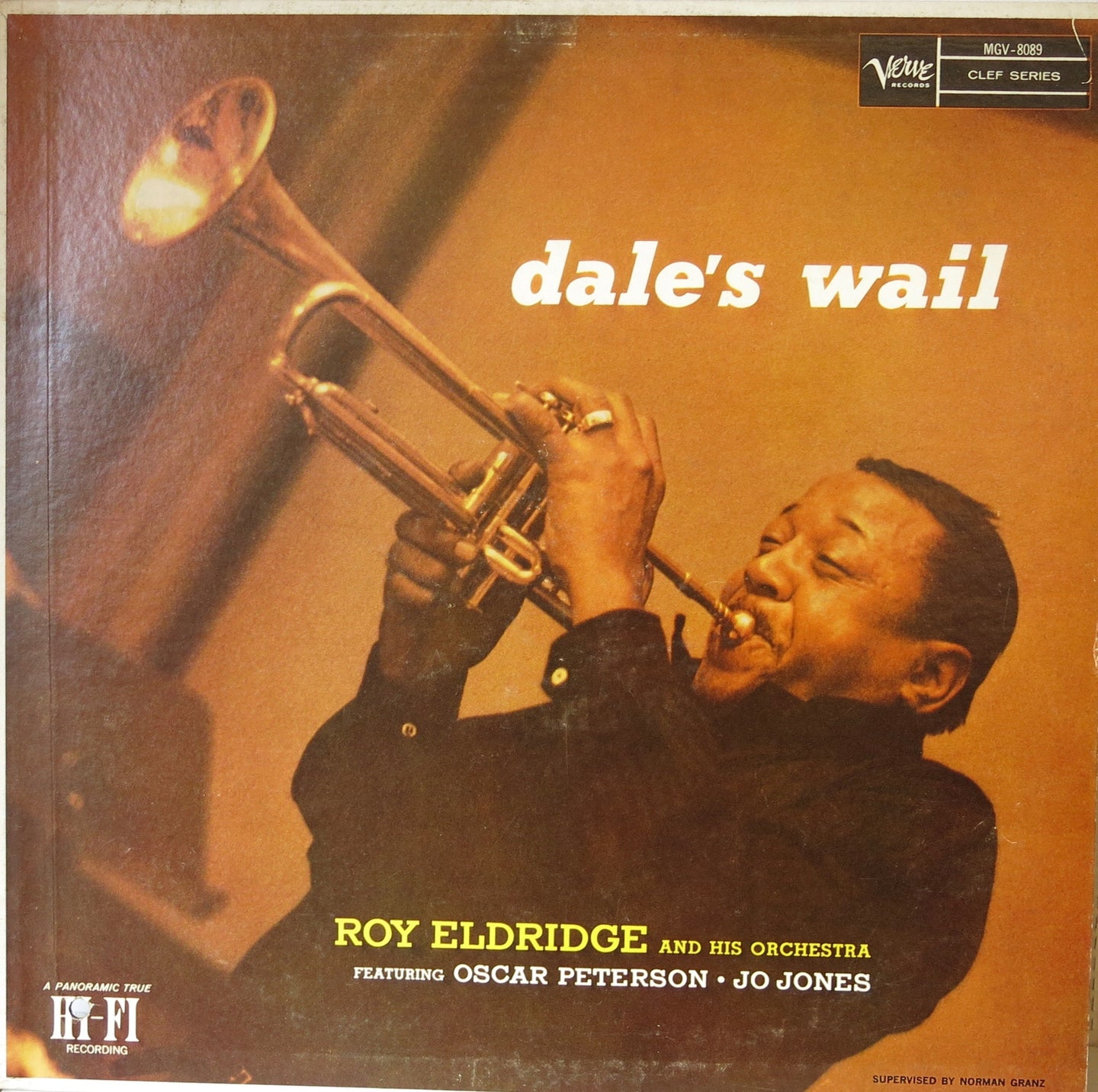 Roy Eldridge And His Orchestra Featuring Oscar Peterson & Jo Jones ‎– Dale's Wail - Verve
