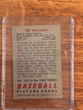 1951 Bowman Ted Williams #165 - Great Condition - Bowman