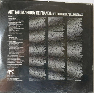Art Tatum, Buddy De Franco, Red Callender, Bill Douglass ‎– The Tatum Group Masterpieces
