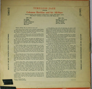 Coleman Hawkins And His All-Stars ‎– Timeless Jazz | Vinyl Record by Jazztone | Friedman & Sons