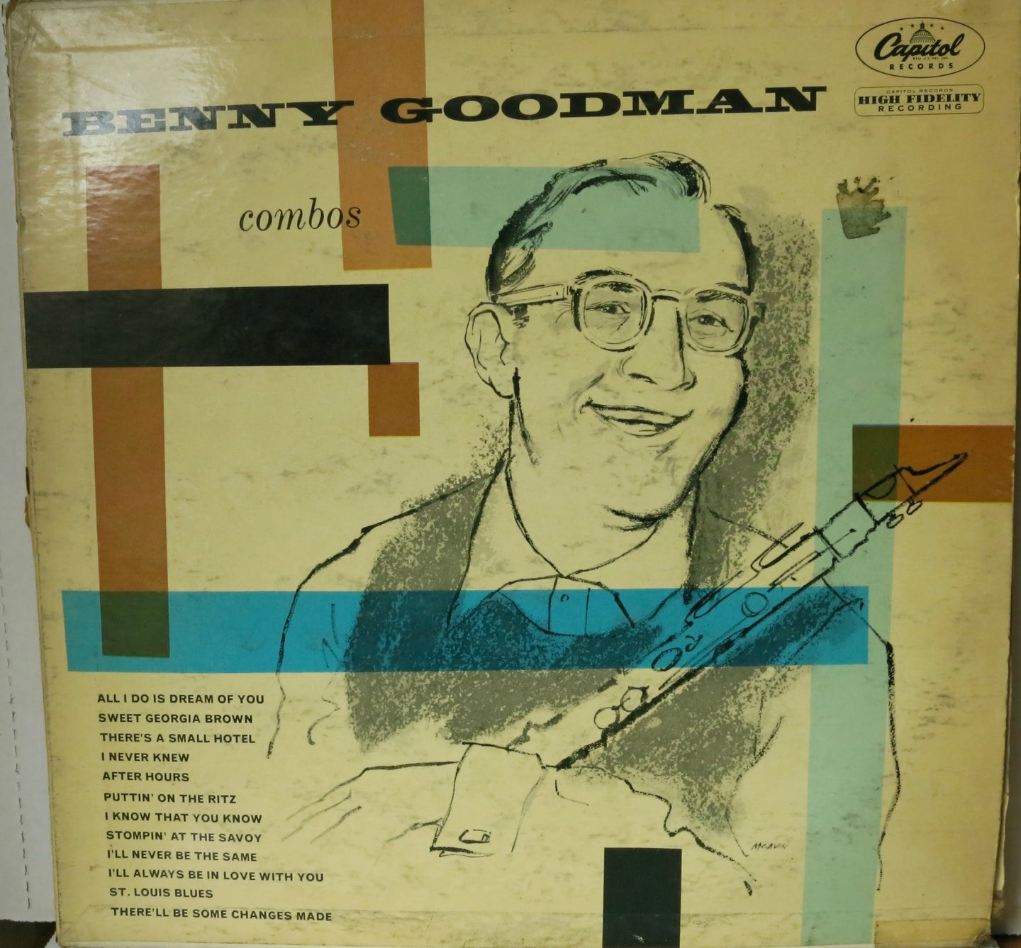 Benny Goodman ‎– Combos | Vinyl Record by Capital Records | Friedman & Sons