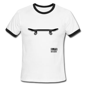 Elite-Boards Skateboard Men's Ringer T-Shirt - white/black