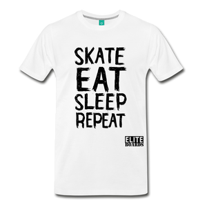 Skate Eat Sleep Repeat - white