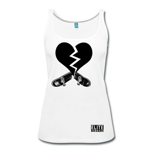 Broken Board Broken Heart Premium Tank Top Women's - white