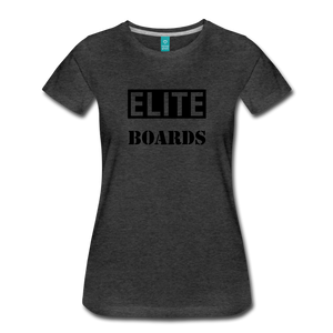 Premium Elite-Boards Logo T Womens - charcoal gray