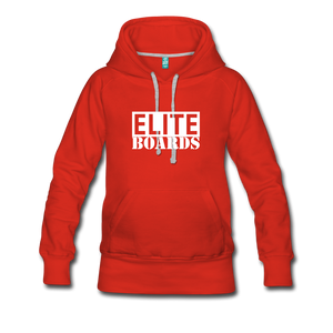 Elite Boards Women's Premium Hoodie - red