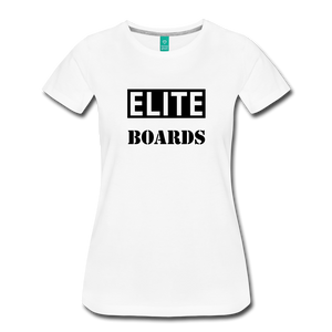 Premium Elite-Boards Logo T Womens - white