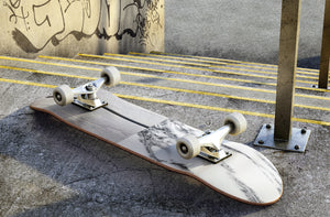 Wooden Black Marble Skateboard